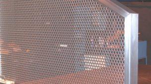 Exemplo de proteções e fechamentos de Chapas Perfuradas